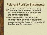 relevant position statements con t