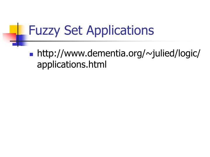 Fuzzy Set Applications