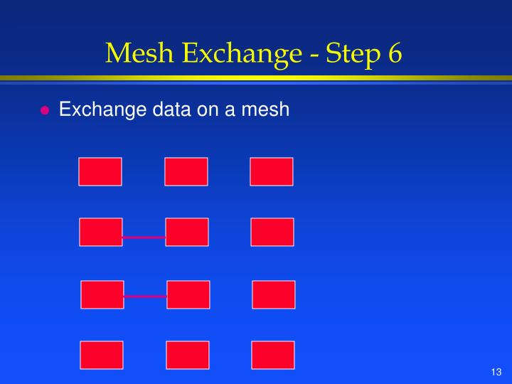 Mesh Exchange - Step 6
