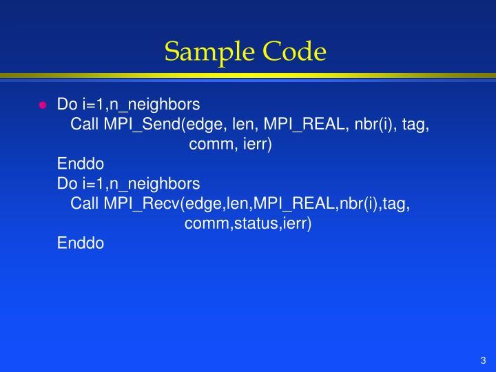 Sample Code