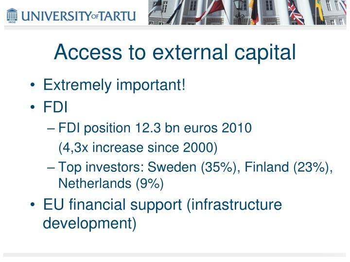 Access to external capital