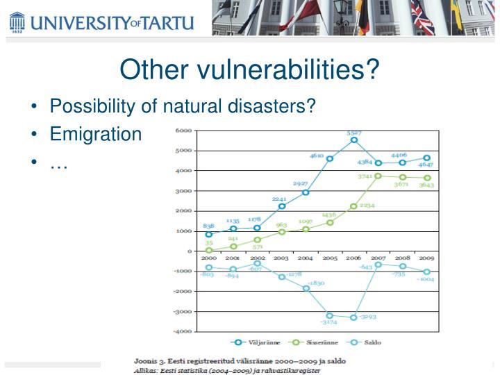 Other vulnerabilities?
