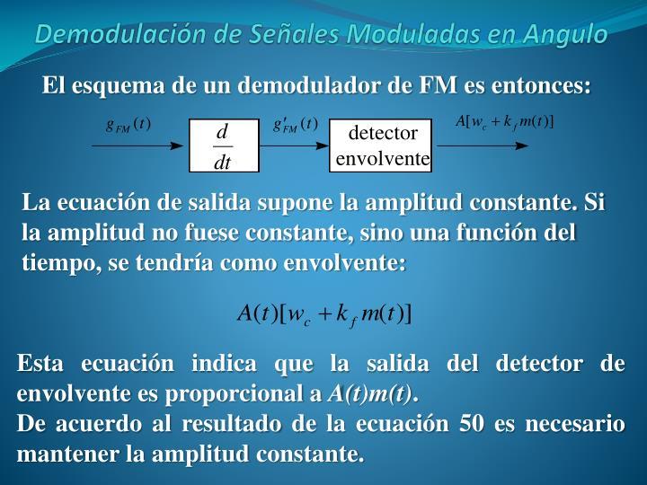 El esquema de un demodulador de FM es entonces: