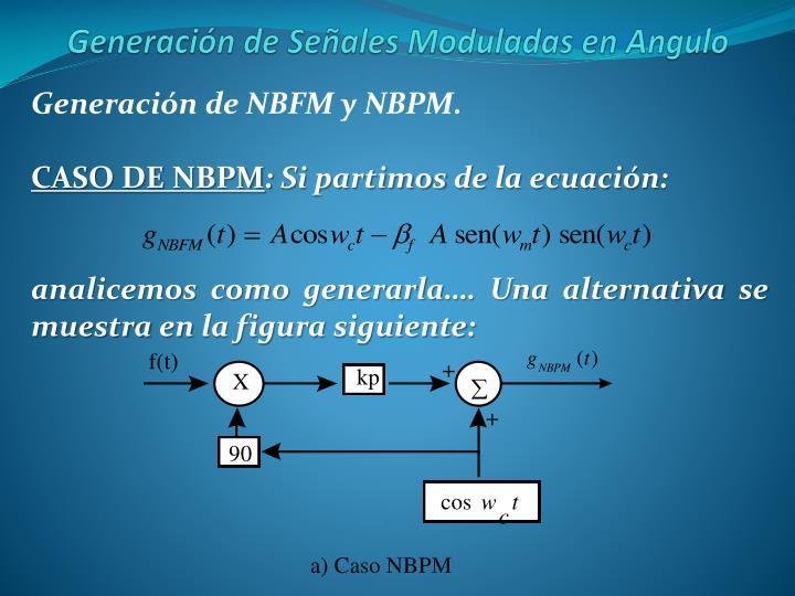 Generación de NBFM y NBPM.