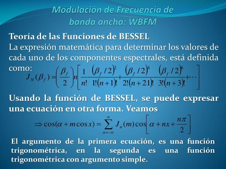 Teoría de las Funciones de BESSEL