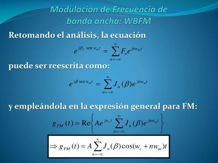 Retomando el análisis, la ecuación