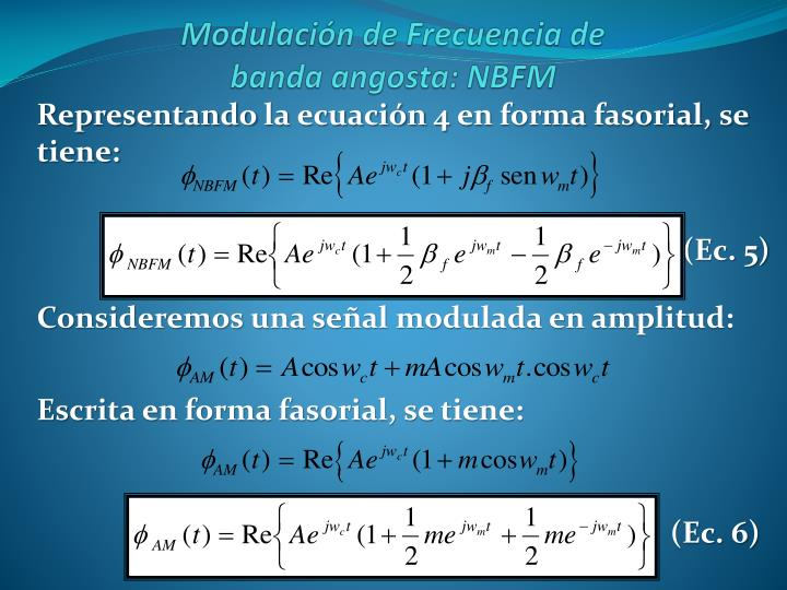 Representando la ecuación 4 en forma fasorial, se tiene: