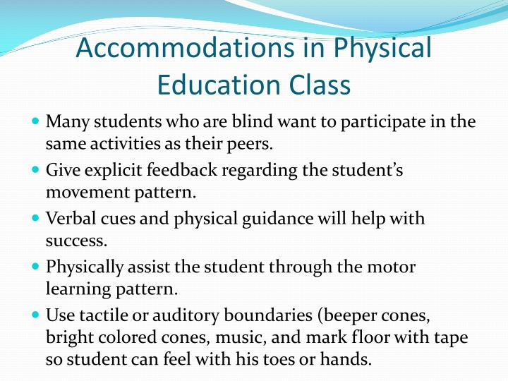 Accommodations in Physical Education Class