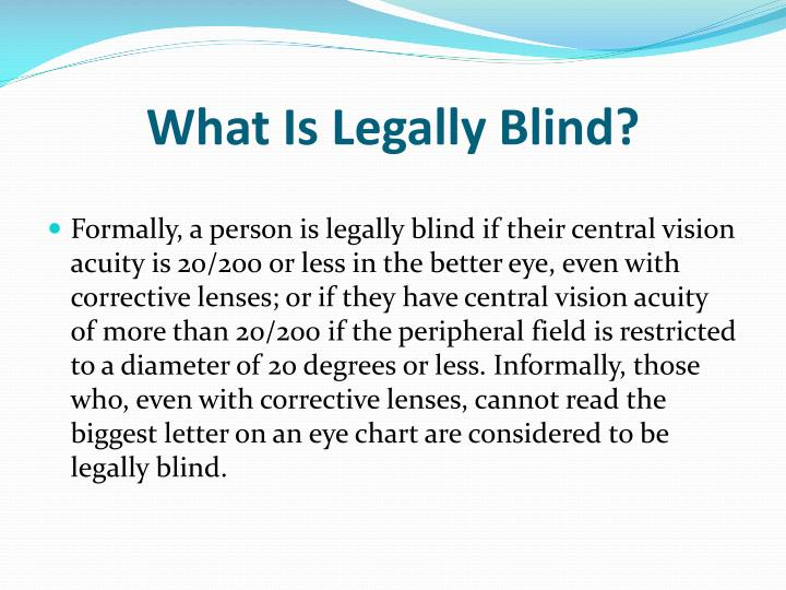 What Is Legally Blind?