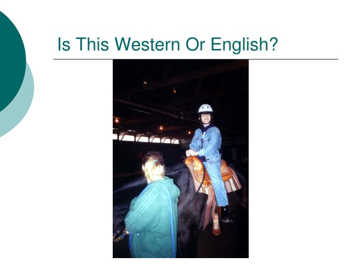 Is This Western Or English?