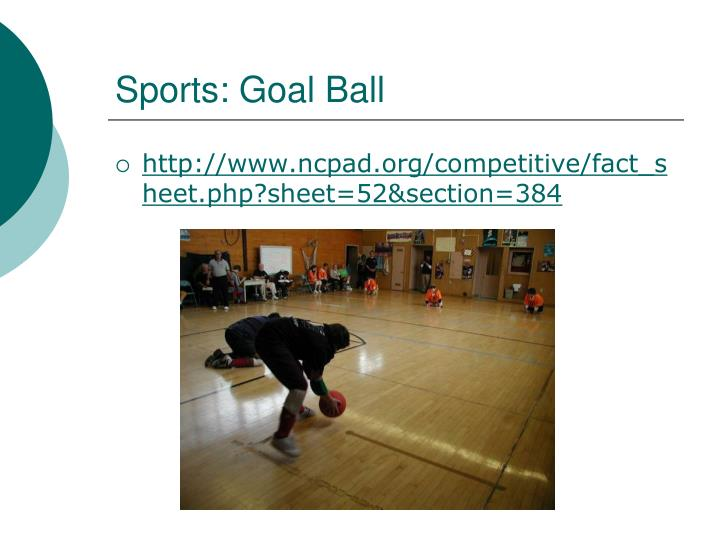 Sports: Goal Ball