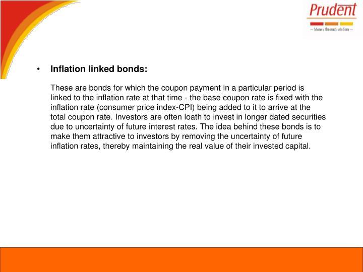 Inflation linked bonds: