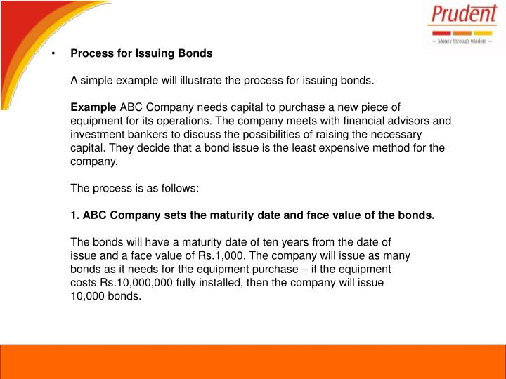 Process for Issuing Bonds