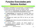 fun es executadas pelo sistema kanban
