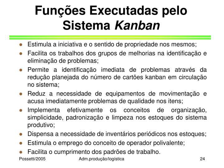 Funções Executadas pelo Sistema