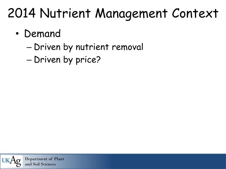 2014 nutrient management context1