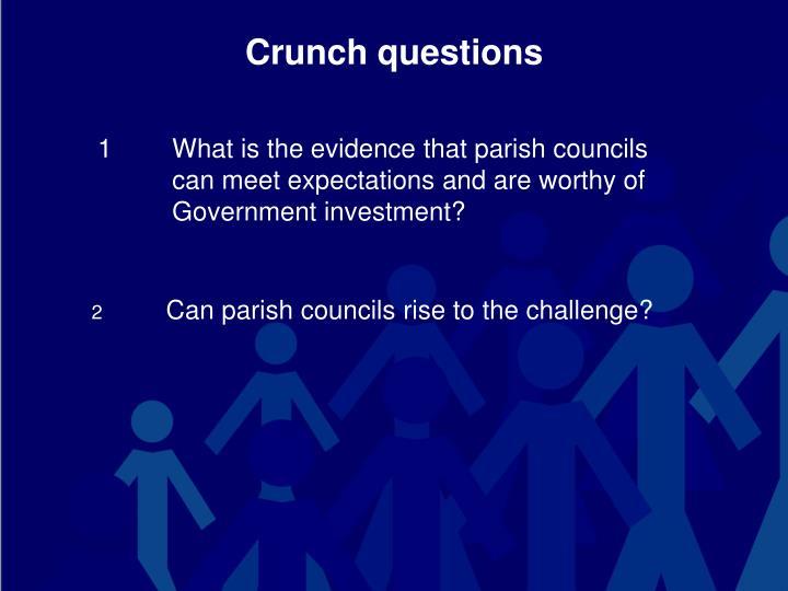 Crunch questions
