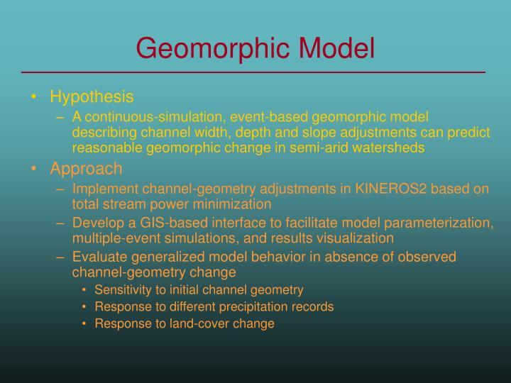 Geomorphic Model