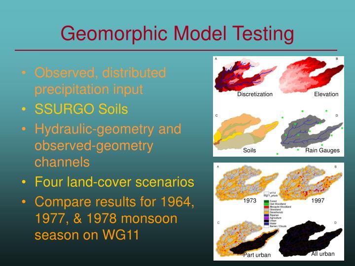 Geomorphic Model Testing