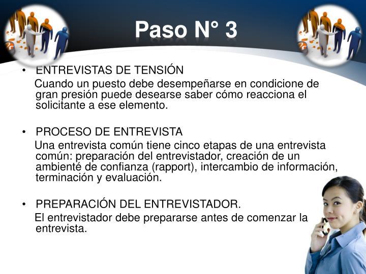 Paso N° 3