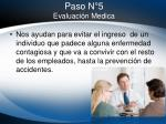 paso n 5 evaluaci n medica