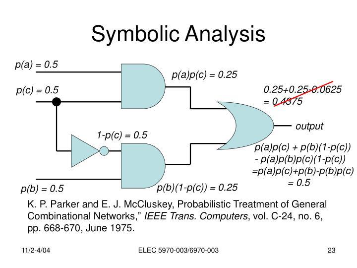 Symbolic Analysis