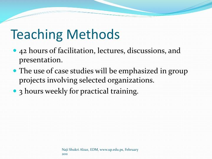 Teaching Methods