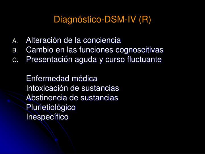 Diagnóstico-DSM-IV (R)