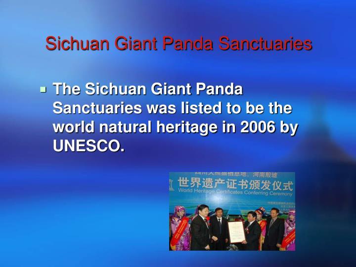 Sichuan Giant Panda Sanctuaries