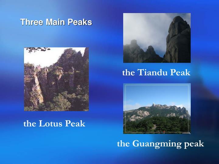 Three Main Peaks