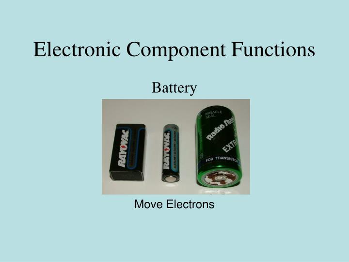 Electronic Component Functions