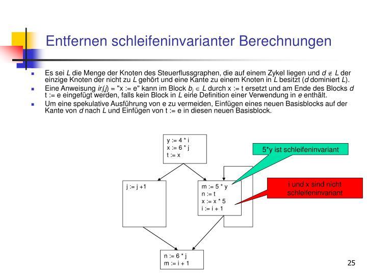 Entfernen schleifeninvarianter Berechnungen