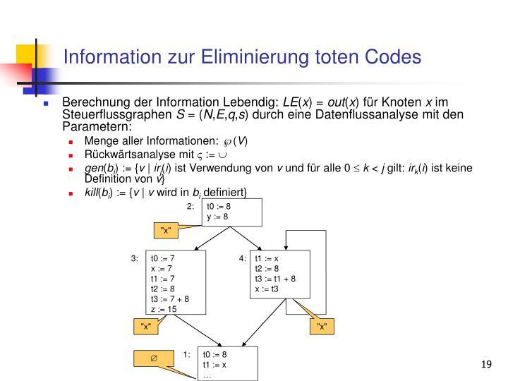 Information zur Eliminierung toten Codes