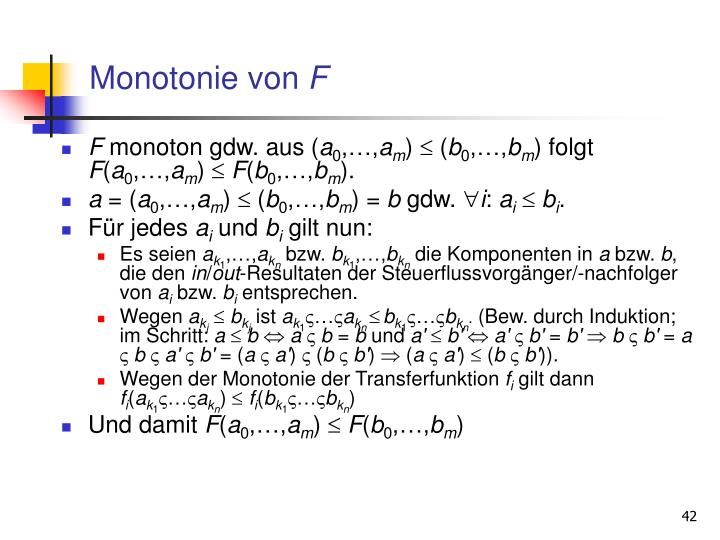 Monotonie von