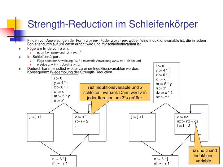 Strength-Reduction im Schleifenkörper