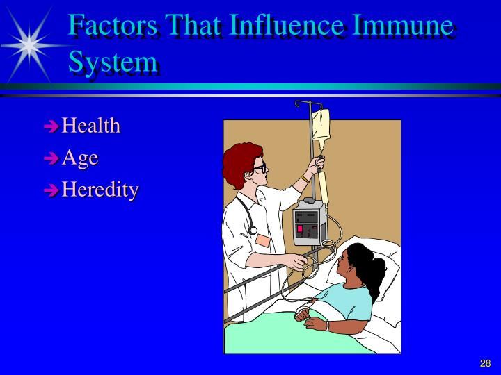 Factors That Influence Immune System