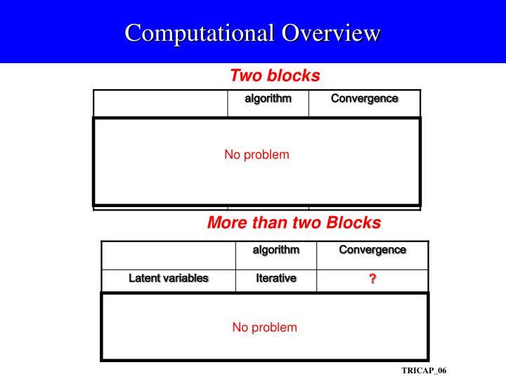 Computational Overview