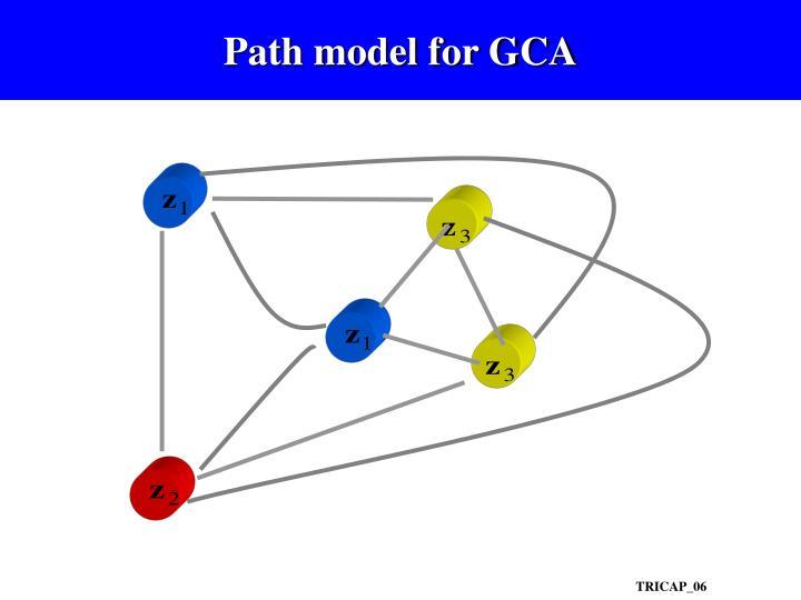 Path model for GCA