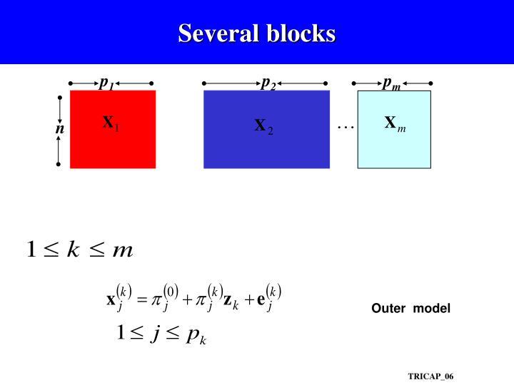 Several blocks