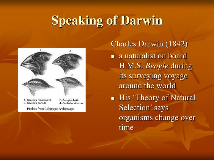 Speaking of Darwin