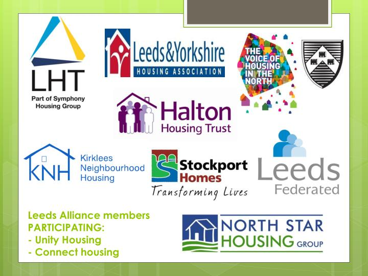 Leeds Alliance members PARTICIPATING: