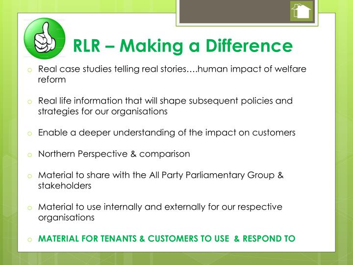 RLR – Making a Difference
