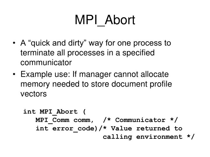 MPI_Abort