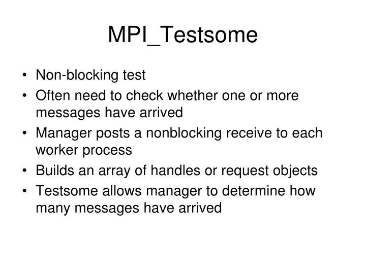 MPI_Testsome