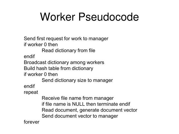 Worker Pseudocode