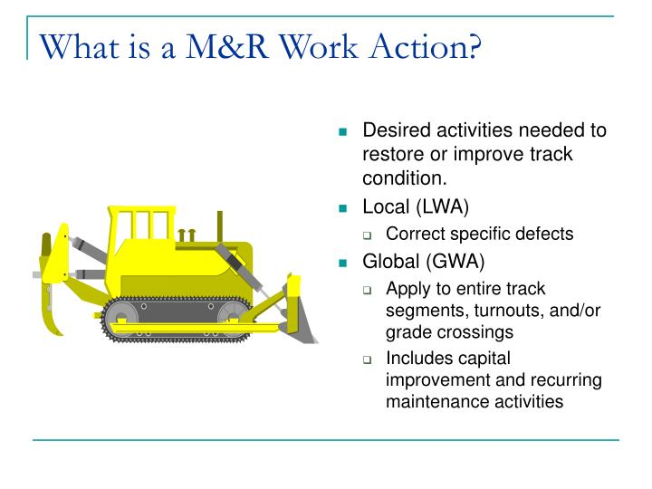 What is a m r work action