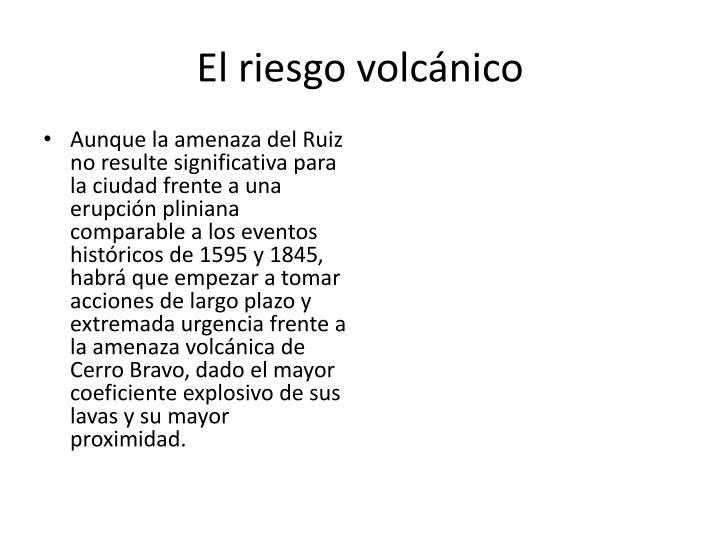 El riesgo volcánico