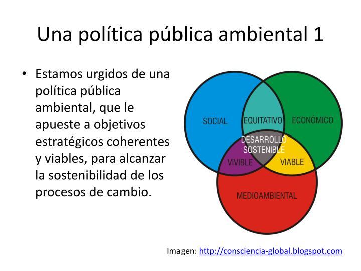 Una política pública ambiental 1