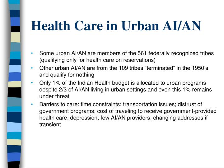 Health Care in Urban AI/AN