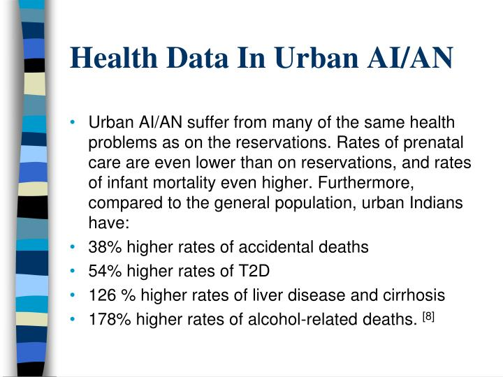 Health Data In Urban AI/AN